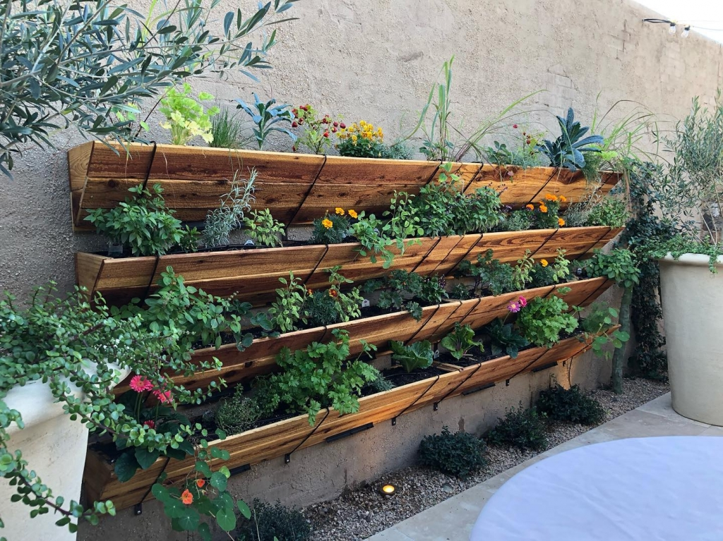 vertical wall hanging garden Flower Street Urban Gardens